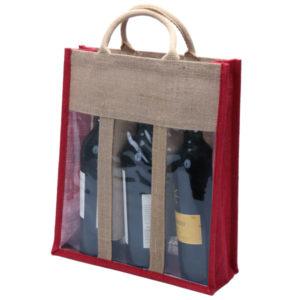 3 Bottle Natural Eco-friendly Jute Wine Bag