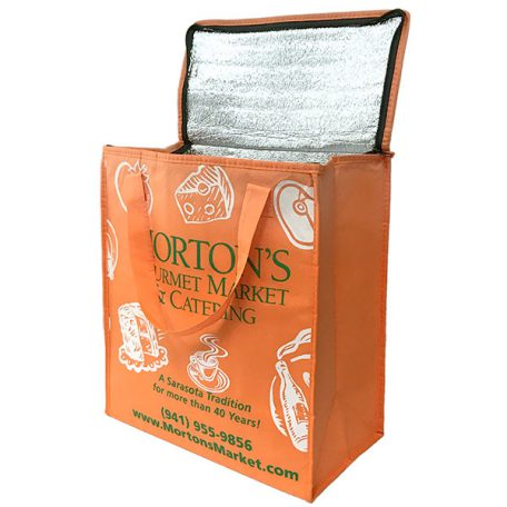 Eco-friendly Orange Jumbo Insulated Bag