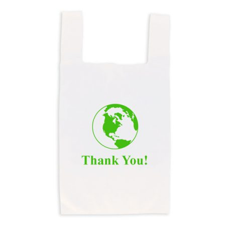 Eco-friendly reusable t-shirt bag - white