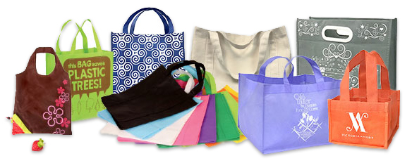 Eco-friendly reusable promotional bags and totes.