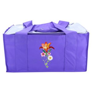 Eco-friendly reusable catering bag - purple